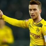 Marco Reus scorede et flot mål i Dortmunds 1-0-sejr over Gladbach søndag aften. Reuters/Thilo Schmuelgen