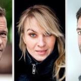 Tre af hovedpersonerne i TV-serien Norskov. Fra venstre: Claus Riis Østergaard, Anne Sofie Espersen og Thomas Levin.