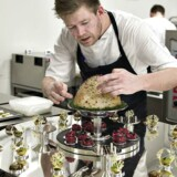 Kenneth Toft-Hansen med sin konkurrenceret til Bocuse d'Or - VM for kokke - i Lyon 2015