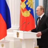 Ruslands præsident, Vladimir Putin, underskrev i juli lovforslaget om, at udenlandske virksomheder skal gemme deres data i Rusland, men dengang var det først meningen, at det skulle ske til næste år. Arkivfoto: Mikhail Klimentjev, AFP/RIA-Novosti/Scanpix