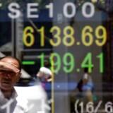 Arkivfoto: det japanske aktiemarked.