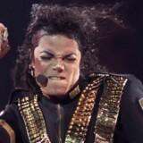 Michael Jackson optræder ved en koncert i Sao Paulo, Brasilien i 1993.