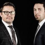 Stifterne af InsideBusiness, Peter Nyholm (tv.) og Morten Johnsen. PR-foto