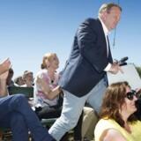 Lars Løkke Rasmussen inden han skal tale på hovedscenen i Allinge under folkemødet på Bornholm lørdag 14. juni 2014.
