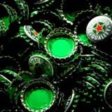 Arkivfoto: Heineken-kapsler.