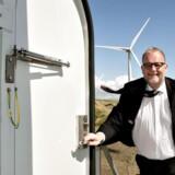 Energi, -forsynings og Klimaminister Lars Christian Lilleholt ved indvigelsen af Danmarks største vindmøller d. 25. april 2016.