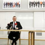 Anders Samuelsen hævede tirsdag det hvide flag og droppede sit klare krav om skattelettelser som forudsætning for en finanslov. Scanpix/Jens Astrup