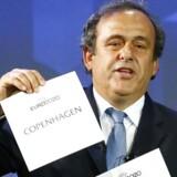 UEFAs præsident Michel Platini afslører, at København bliver vært for fire kampe ved EM-slutrunden i 2020.