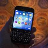 Blackberry lancerede op til jul sin nye Classic-smartphone i New York i forsøget på at komme tilbage efter flere års krise og tilbagegang. Arkivfoto: Brendan McDermid, Reuters/Scanpix