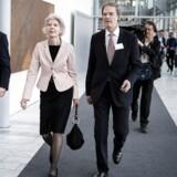 I dag, tirsdag, holder Mærsk generalforsamling i Bella Center. Her kommer Ane Mærsk Mc-Kinney Uggla gående.