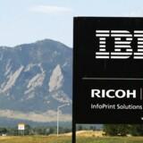 IBM's salg stiger for første gang siden 2012, men skattereform i USA giver blodrød bundlinje, viser regnskab. (UNITED STATES - Tags: BUSINESS)