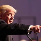 Donald Trump holder valgtale i New York. Foto: Spencer Platt/AFP