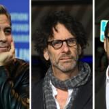 George Clooney og filminstruktørerne Joel og Ethan Coen måtte flere gange på en pressekonference i Berlin svare på, hvorfor de ikke har lavet film om Europas flygtningesituation.