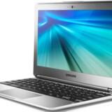 Samsung Chromebook har en 11,6 tommer stor skærm men er helt afhængig af en internetforbindelse. Det bringer til gengæld prisen ned og sikrer, at alt altid er opdateret. Foto: Samsung