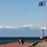 Thessaloniki havn, 2. april, 2015. AFP PHOTO /Sakis Mitrolidis