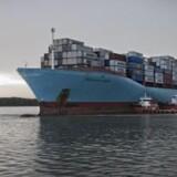 Containerrederiernes indtjening er presset af lave fragtrater. Hanjin Shippings konkurs kan hjælpe til bedring. Arkivfoto af skib fra Maersk Line. (Free/Maersk Line)
