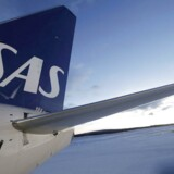 The logo of Scandinavian airline SAS is seen on an aircraft at Kiruna airport, Sweden, in this December 16, 2015 file photo.