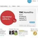TDC markedsfører intenst HomeTrio - Internet, TV og telefoni i en samlepakke. Det giver bonus, for flere vælger dermed at blive hos TDC i stedet for at flytte til konkurrenterne.