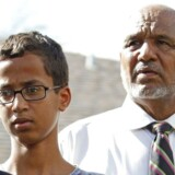 14-årige Ahmed Mohammed med sin far.