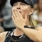 I modsætning til Caroline Wozniacki er Maria Sharapova stadig med i US Open. Scanpix/Robert Deutsch
