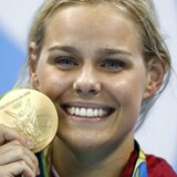 Arkivfoto. Pernille Blume vandt sin semifinale i 100 meter fri og satte dansk rekord for anden gang torsdag.
