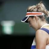 Wozniacki tabte tirsdag overraskende til verdensranglistens nummer 80, Maria Sakkari, i anden runde af den kinesiske turnering på hardcourt.