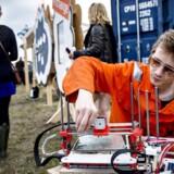 Gæsterne ved årets Roskilde Festival havde mulighed for at få demonstreret 3D-printerens muligheder i MakerSpace området.