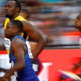 Atleten Usain Bolt sluttede på en for ham uvant tredjeplads ved VM-finalen i 100-meter sprint.