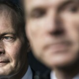 Arkivfoto: Til venstre i billedet Peter Skaarup (DF) og til højre partiformand Kristian Thulesen-Dahl (DF).