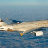 Etihad Airways A380, som indeholder 'The Residence'.