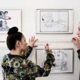 Udstillingen »Grænseløs humor« på Storm P. Museet er lavet i samarbejde med en række kursister med udenlandsk baggrund fra Københavns Sprogcenter. Foto: Ida Marie Odgaard