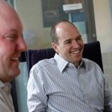 Marc Andreessen (til venstre) sammen med sin kollega Ben Horowitz, som i fællesskab driver investeringsselskabet Andreessen Horowitz, som de åbnede i juli. Foto: Brendan McDermid, Reuters/Scanpix
