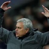 José Mourinho demonstrerede sin utilfredshed over Manchester Uniteds præstation onsdag aften. Reuters/Eddie Keogh