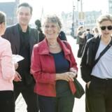 SF med Margrethe Auken i spidsen lavede fredag morgen et event med fokus på global opvarmning i København.