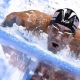 Arkivfoto: »Omkamp? Næste gang… I varmere vand,« skrev svømmefænomentet Michael Phelps efter søndagens konkurrence mod en stor hvidhaj.