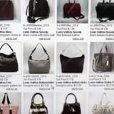 Håndtasker, der ligner tasker fra LVMH, til salg i en kinesisk netbutik.