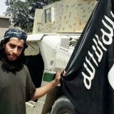 Udateret billede af Abdelhamid Abaaoud i Islamisk Stats magasin, Dabiq.
