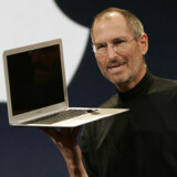 Steve Jobs præsenterer Apples supertynde bærbare, MacBook Air.