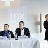 Pressemøde om sammenlægning af BT og Metroxpress hos Berlingske Media. Til stede: Mette Maix, adm. direktør for Berlingske Media, Jens Grund, konstitueret ansvarshavende chefredaktør i selskabet, og Thomas Raun, som i dag er adm. direktør for MX.