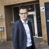 Arkivfoto: Forsvarsadvokat Peter Trudsø. Fotograferet i forbindelse med Atea bestikkelsessagen. Sted: Retten i Glostrup.