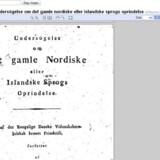 Også danske værker - her et af den navnkundige sprogforsker Rasmus Rasks - kan findes på Google Books.