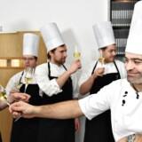 Michelinstjernerne er for første gang kommet til Aarhus, hvor blandt andet Frederikshøj fik sin første stjerne. Her skåler chefkok Wassim Hallal.