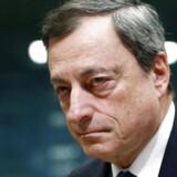 Mario Draghi er topchef i ECB, der nu løfter sløret for snakken på de lukkede møder. Foto: Francois Renoir/Reuters