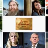 Hvem bliver Årets dansker 2016? De nominerede fra top venstre: Pernille Blume, Ole Sørensen, Susanne Bier, Jørgen Vig Knudstorp, Claus Meyer, Jens Philip Yazdani, Svend Brinkmann, Pernille Vermund, Lars Løkke Rasmussen og Margrethe Vestager.