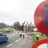 Danmark indførte kl 12.00 mandag d. 4. januar midlertidig grænsekontrol for at dæmme op for flygtninge. Her ved grænseovergang i Padborg by.