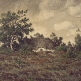 Théodore Rousseau, Landscape with Cottage, 1865.
