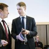 Thomas Thune Andersen bestyrelsesformand for Dong Energy og Henrik Poulsen administrerende direktør for DONG Energy. (Foto: Niels Ahlmann Olesen/Scanpix 2016)