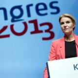 3F-kongres i Aalborg. Statsminister Helle Thorning-Schmidt (S) taler på kongressen søndag d. 15 september 2013.