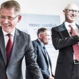Lars Rebien Sørensen stopper som topchef i Novo Nordisk med udgangen af 2016. Til højre for den mangeårige Novo-frontfigur ses hans afløser Lars Fruergaard Jørgensen, der tager over 1. januar 2017.