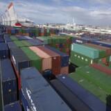 Singapore-rederiet Neptune Orient Lines (NOL), der er konkurrent til Maersk Line, er lykkedes med at mindske sit underskud. Arkivfoto.